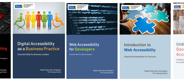 text book covers regarding accessibility